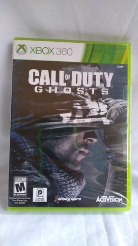 call of duty: ghosts - nuevo y sellado - xbox 360