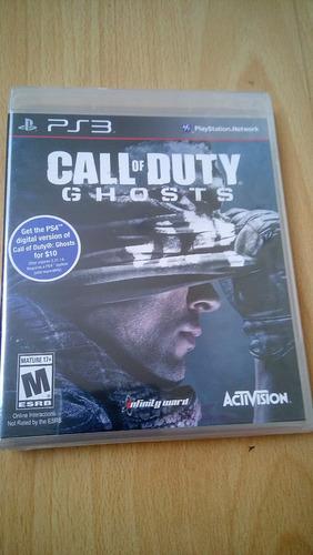 call of duty ghosts ps3 nuevo y sellado
