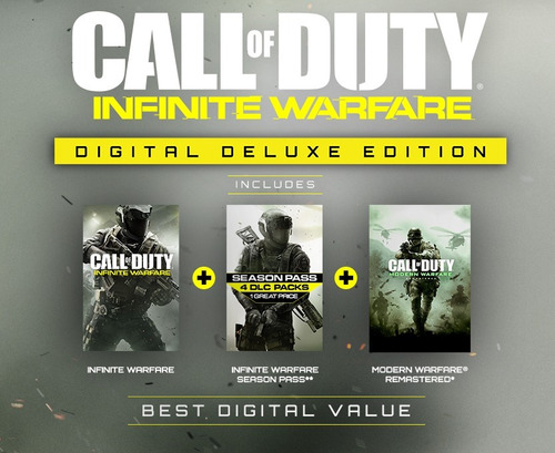 call of duty infinite warfare deluxe ps4 jugas con tu user