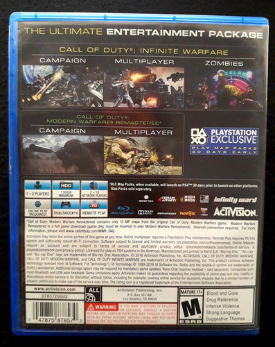call of duty: infinite warfare - físico - ps4