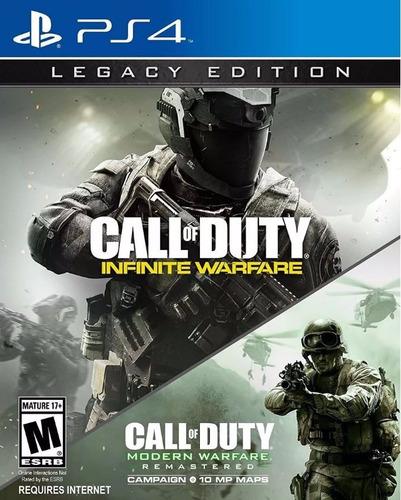 call of duty infinite warfare fisico ps4 legacy edition + mw
