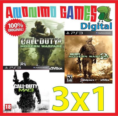 call of duty modern warfare 1+2+3 español playstation 3