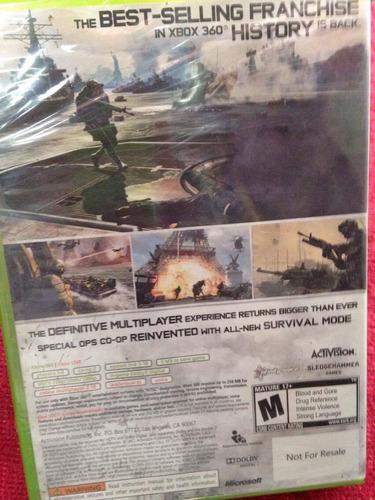 call of duty modern warfare 3 xbox 360 sellado físico