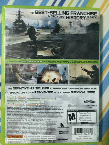 call of duty modern warfare 3 xbox 360 y xbox one