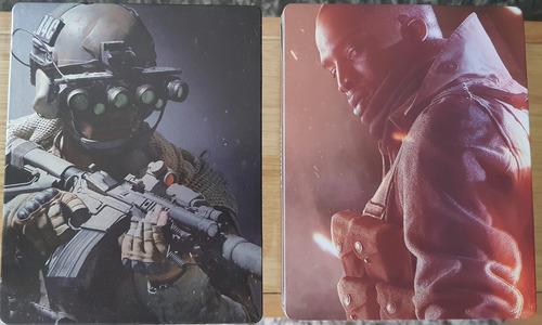 call of duty modern warfare caja metalica + battlefield 1