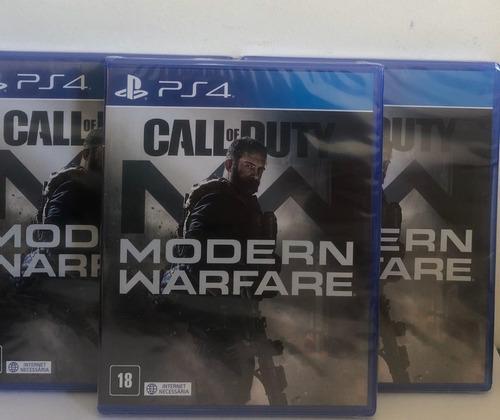call of duty modern warfare ps4 mídia física promoção