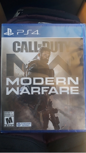 call of duty modern warfare ps4 nuevo sellado fisico