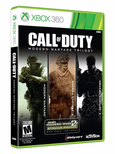 call of duty modern warfare trilogy (nuevo sellado) xbox 360