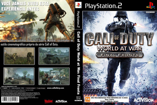 call of duty world at war final fronts jogo ps2 patch barato