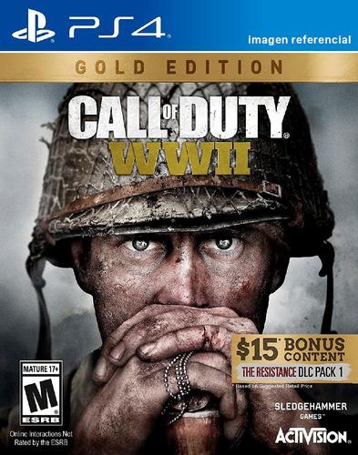 call of duty ww2 / gold edition / juego físico / ps4