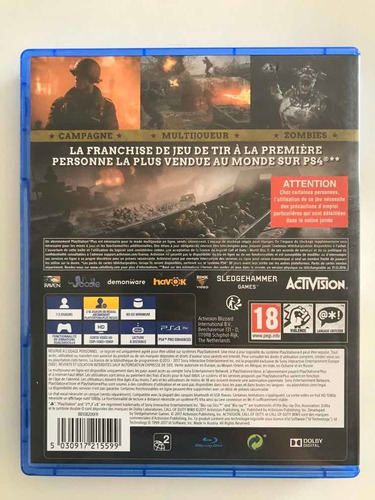call of duty wwii físico ps4 impecable