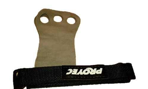 callera cuero natural 3 dedos con abrojo - crossfit -fitness