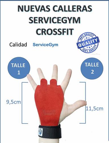 calleras cayera guantes de crossfit cuero roja servicegym