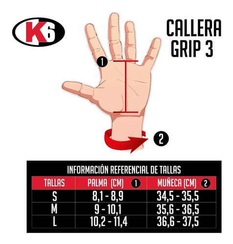 calleras cayeras guantes gym pesas cuero unisex k6 fitness