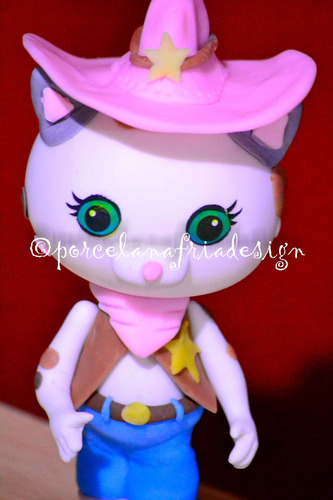 callie sheriff porcelana fria. personajes disney junior