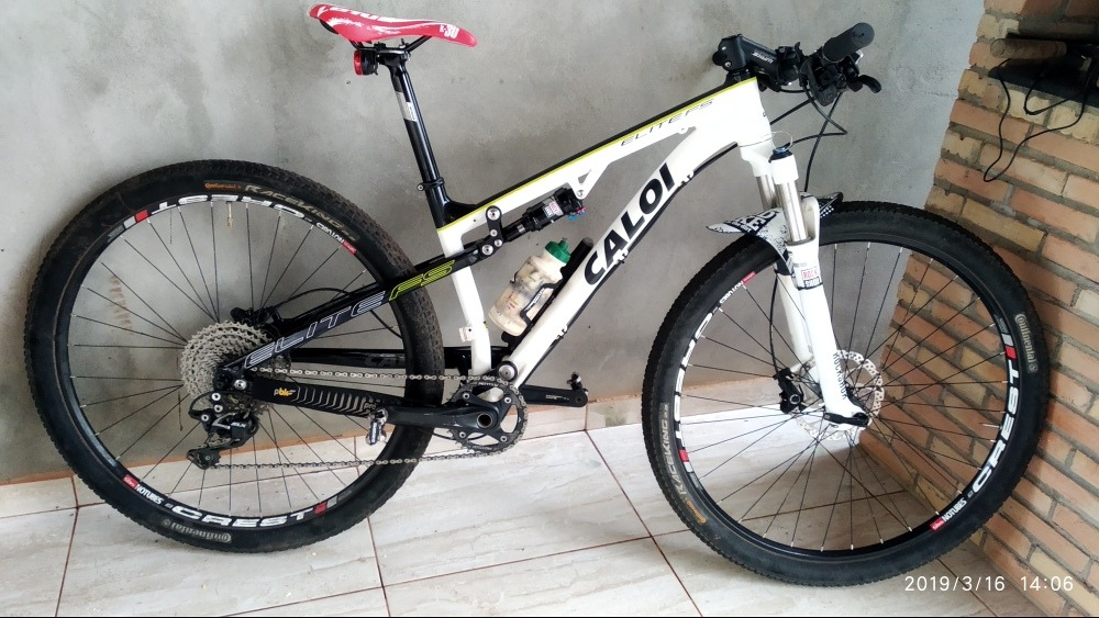 6b1303d3b87 Caloi Elite Fs Full Suspension P - R$ 4.900,00 em Mercado Livre