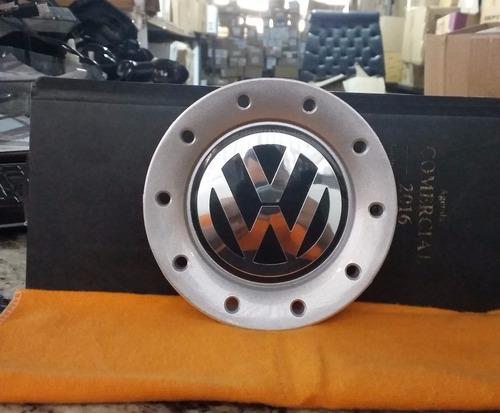 calota central p/roda original vw polo 2003/08 c/furo