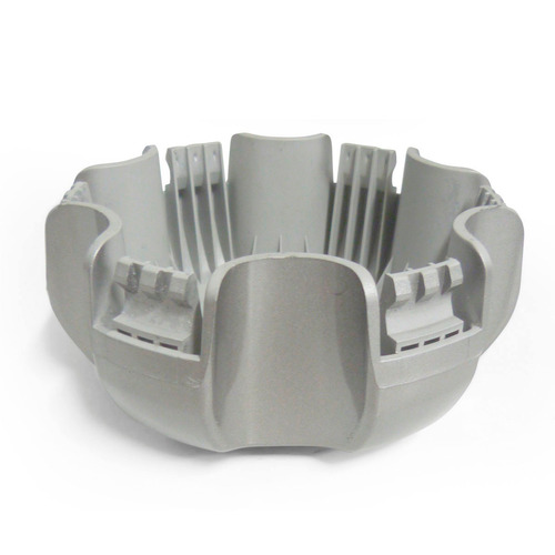 calota centro de roda s10 ltz 2014 prata - emblema gm