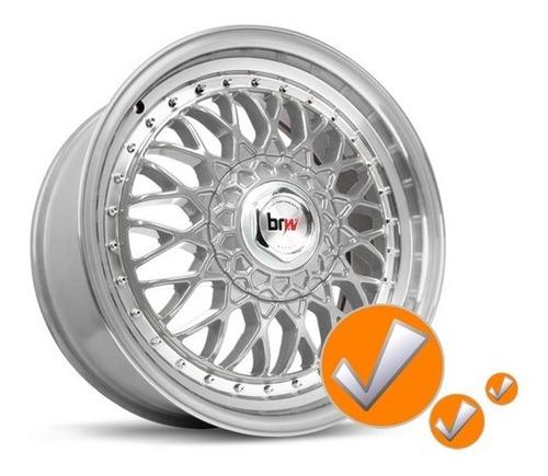 calota centro miolo tampa roda bbs brw900 prata c/emb.preto