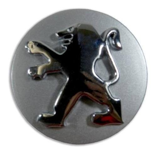 calota centro roda tampa peugeot 58mm prata com cromado
