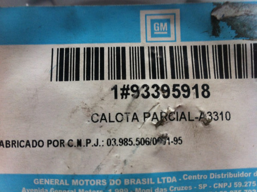 calota do centro da roda vectra 06/ cod.gm 93395918