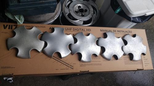 calota em aluminio para roda de liga renult clio r$70,00 só