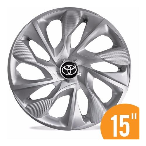 calota esportiv 15 ds4 silver prata toyota etios hatch sedan