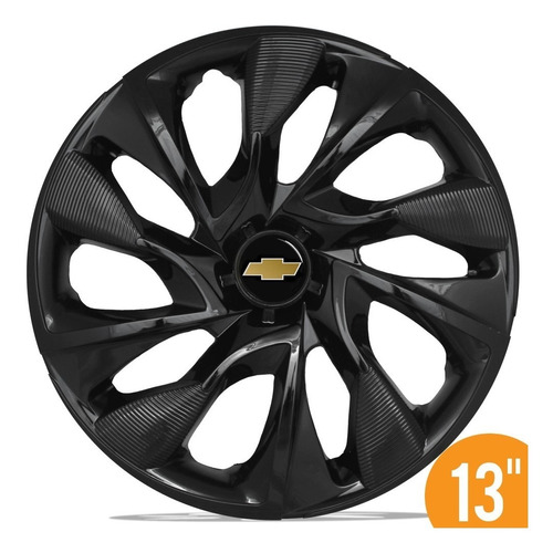 calota esportiva 13 ds4 black preta gm celta corsa classic