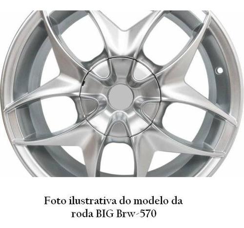 calota miolo centro de roda big brw-570 brw570 prata