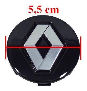calota miolo centro roda renault duster clio sandero preta