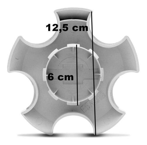 calota s10 gm rodeio executive blazer prata 2011 = kit 4 pçs