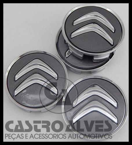 calota tampa central roda citroen c3 exclusive grafite -1 pç