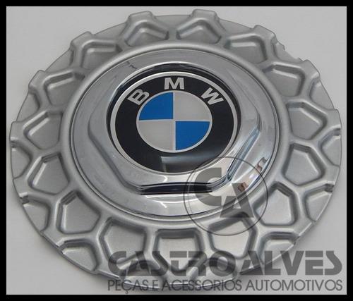 calota tampa centro roda bbs brw900 bmw aro 17 prata - 1 pç