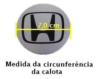 calota tampa miolo centro roda grafite new civic 2007 - 13