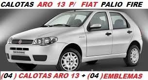 calotas  aro 13 ( 04 pçs ) p/ fiat  palio fire +emblema fiat