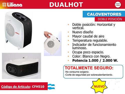 caloventor liliana dualhot cfh510 blanco 1000/2000w