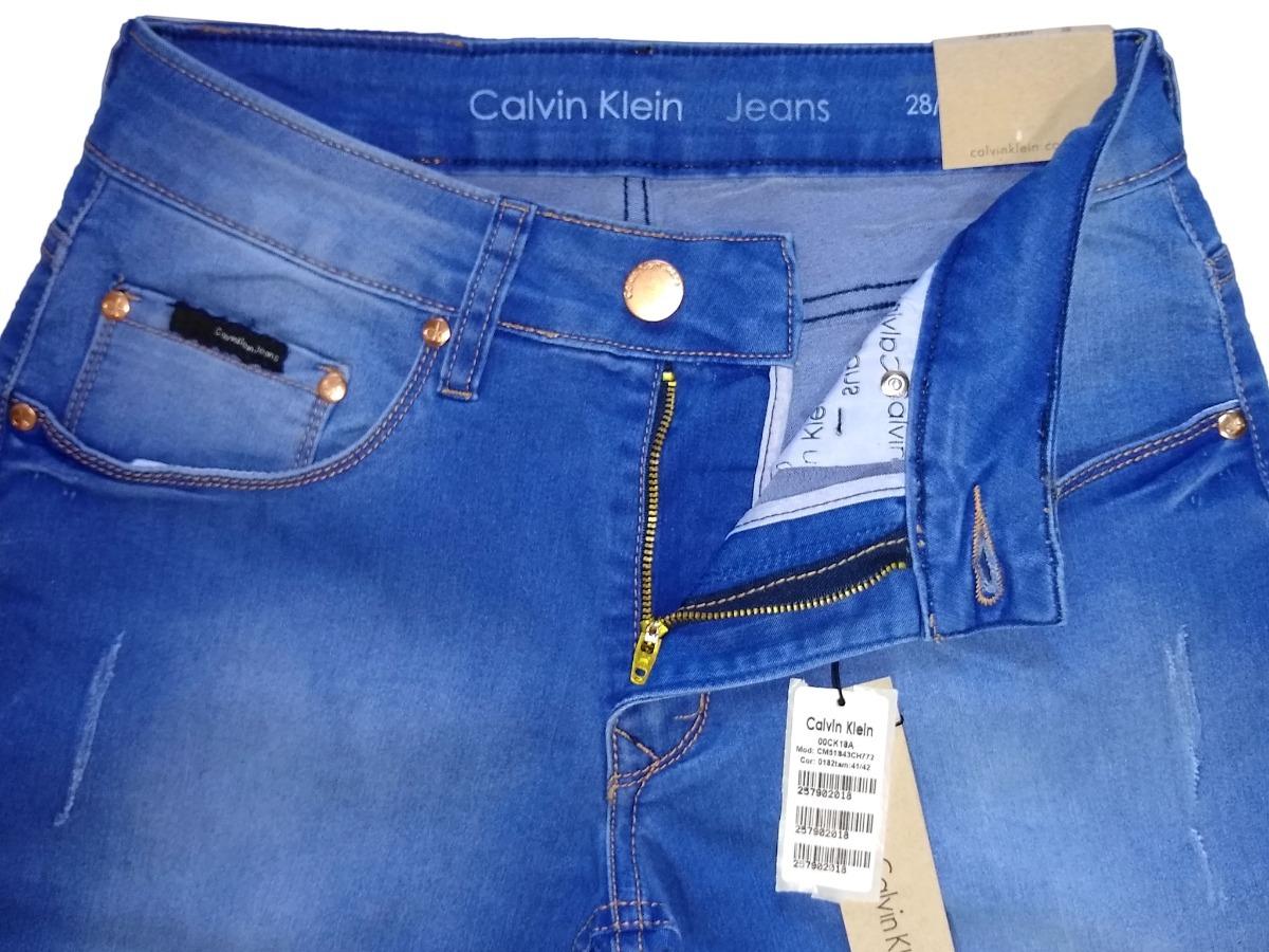 Carregando zoom... calça jeans masculina calvin klein original slim fit  stretch c4d2734853