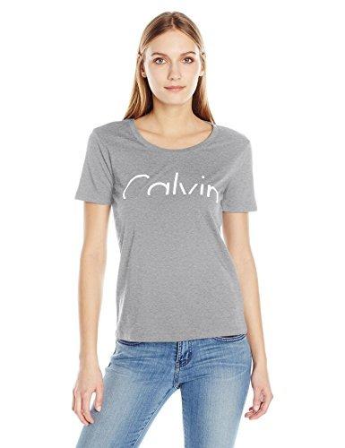 Calvin Klein Jeans Camiseta De Manga Corta Para Mujer Calvin ... 9d98a8cca03f8
