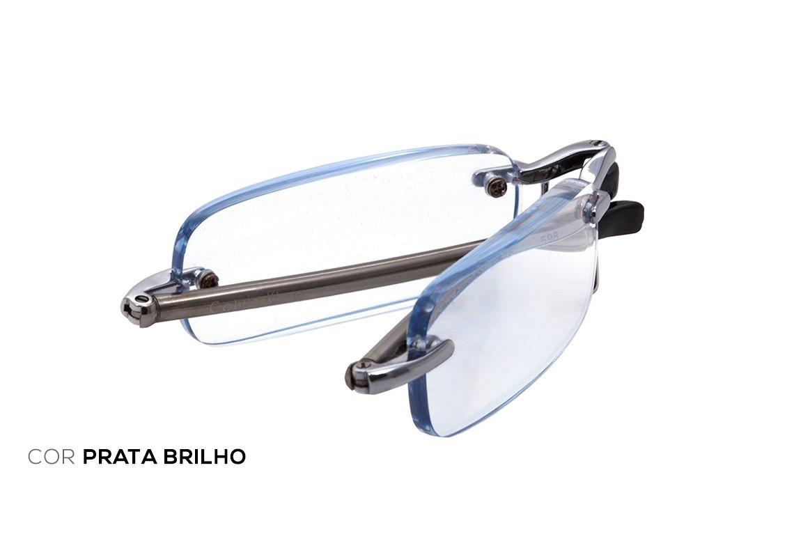 5f74eb0ba57a1 calvin klein óculos de leitura dobrável.grau +250 e +200. Carregando zoom.