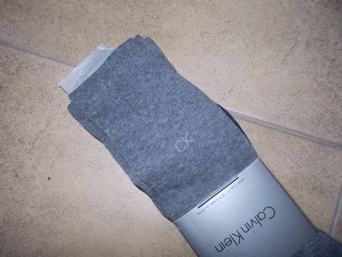 calvin klein paquete de 4 pares de medias 7 - 12 azul y gris