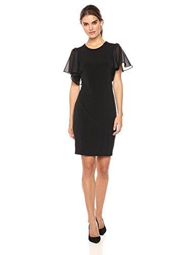 0286d6a5b8ff Calvin Klein Para Mujer M7jd7850 Manga Corta Vestido - Negro