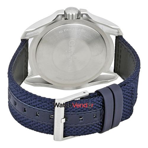 Calvin Klein Reloj Para Hombre Earth Blue Dial Blue Nylon ... 6f4f54399288