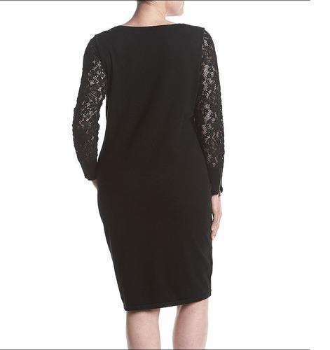 calvin klein vestido negro tejido sueter plus size talla 2x