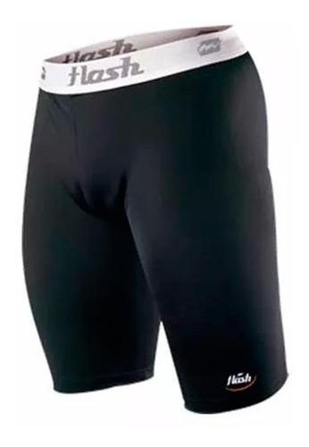calza bermuda de algodon y lycra flash hombre futbol rugby