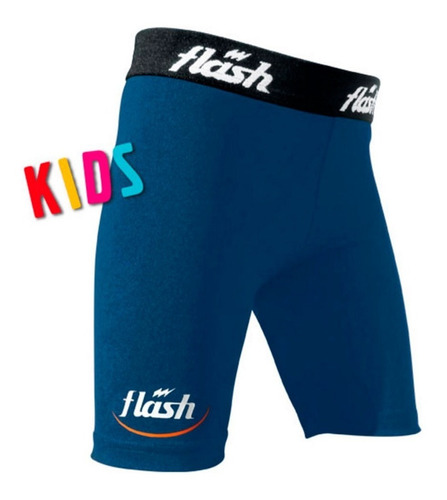 calza corta bermuda nene niños futbol spandex flash fivra