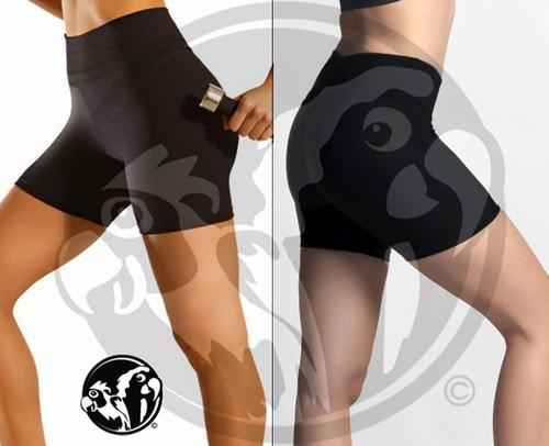 calza corta modeladora de supplex cintura alta varios talles