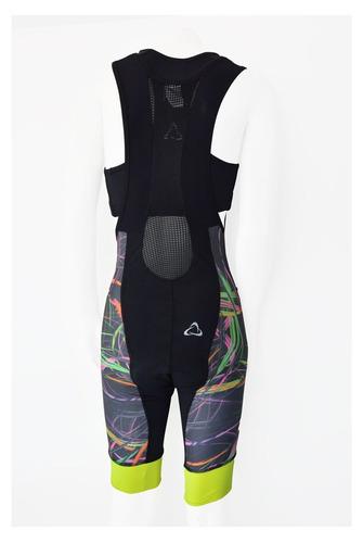 calza enterito malliot con top ciclismo neon mujer osx
