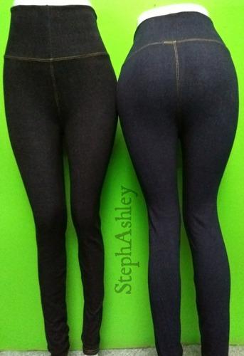 calza jeans de tela mezclilla