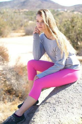 calza mujer deportiva sport gym capri champion importada