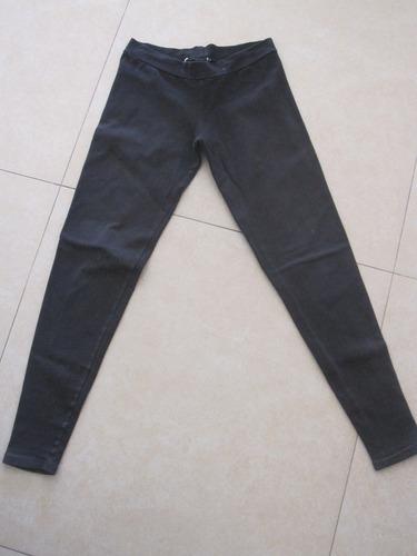 calza negra chupin talle 16 años algodon y lycra